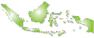 Mapa de Indonésia Fotografia de Stock
