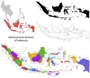Mapa de Indonesia ilustración del vector