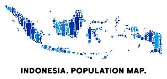 Mapa de Indonesia del Demographics stock de ilustración