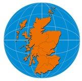Mapa de Inglaterra Fotos de Stock Royalty Free
