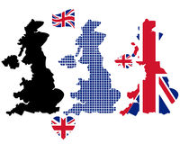 Mapa de Inglaterra Fotografia de Stock Royalty Free