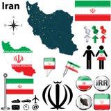 Mapa de Irán Fotografía de archivo