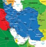 Mapa de Irã Imagens de Stock