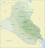 Mapa de Iraque Fotos de Stock