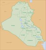 Mapa de Iraque Fotografia de Stock