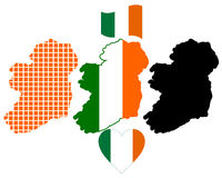 Mapa de Ireland Imagem de Stock Royalty Free