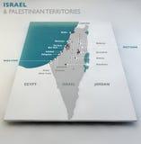 Mapa de Israel y de territorios palestinos ilustración del vector