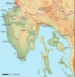 Mapa de Istria Ilustração Stock