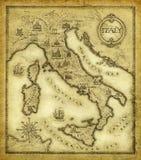 Mapa de Italy ilustração stock