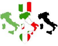 Mapa de Italy Imagem de Stock Royalty Free