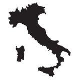 Mapa de Itália Foto de Stock Royalty Free