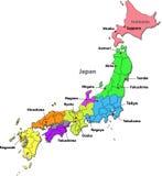 Mapa de Japão Foto de Stock Royalty Free