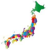 Mapa de Japão ilustração royalty free