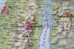 Mapa de Jerusalem Fotos de Stock