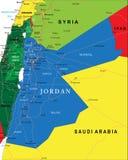Mapa de Jordânia Foto de Stock Royalty Free