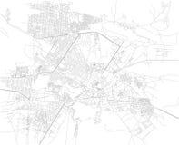 Mapa de Kabul, ruas, Afeganistão Ásia Fotos de Stock