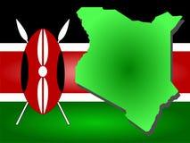 Mapa de Kenya Fotografia de Stock