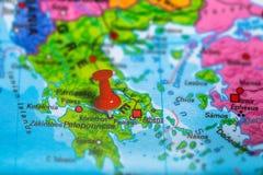 Mapa de Korinthos Grécia fotos de stock