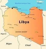 Mapa de Líbia Foto de Stock