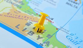 Mapa de Líbia imagens de stock royalty free