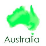 Mapa de la acuarela del vector de Australia en un fondo blanco libre illustration
