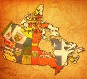 Mapa de la administración de Canadá Imágenes de archivo libres de regalías