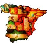 Mapa de la administración de España stock de ilustración