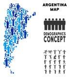 Mapa de la Argentina del Demographics stock de ilustración