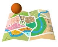 Mapa de la ciudad Fotografía de archivo libre de regalías
