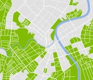Mapa de la ciudad Fotografía de archivo