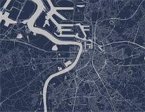 Mapa de la ciudad de Amberes, Bélgica stock de ilustración