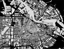 Mapa de la ciudad de Amsterdam, Países Bajos Fotografía de archivo