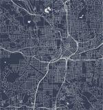 Mapa de la ciudad de Atlanta, los E.E.U.U. libre illustration