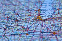 Mapa de la ciudad de Chicago, Ilinios imagenes de archivo