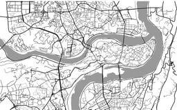Mapa de la ciudad de Chongqing, China Fotos de archivo libres de regalías