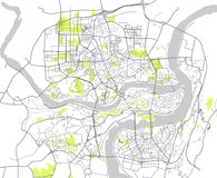 Mapa de la ciudad de Chongqing, China Fotografía de archivo