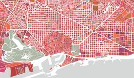 Mapa de la ciudad de Barcelona, España Fotografía de archivo