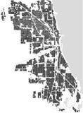 Mapa de la ciudad de Chicago, los E.E.U.U. Foto de archivo libre de regalías