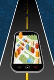 Mapa de la ciudad de GPS ilustración del vector