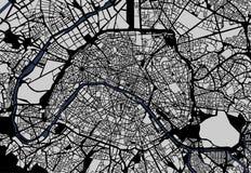 Mapa de la ciudad de París, Francia Fotografía de archivo libre de regalías