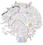 Mapa de la ciudad de París, Francia Imagen de archivo