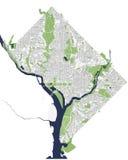 Mapa de la ciudad de Washington, D C , los E Imágenes de archivo libres de regalías