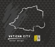 Mapa de la Ciudad del Vaticano, ejemplo del vector del bosquejo de la tiza Imagenes de archivo