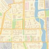 Mapa de la ciudad del vector Imagen de archivo libre de regalías
