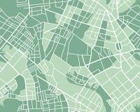 Mapa de la ciudad inconsútil Foto de archivo
