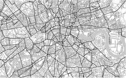 Mapa de la ciudad de Londres, Gran Bretaña Imágenes de archivo libres de regalías