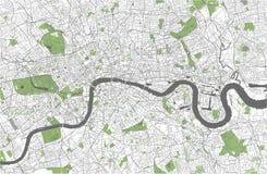 Mapa de la ciudad de Londres, Gran Bretaña Imagenes de archivo