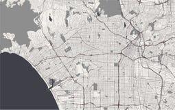 Mapa de la ciudad de Los Ángeles, los E.E.U.U. ilustración del vector
