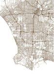 Mapa de la ciudad de Los Ángeles, los E.E.U.U.