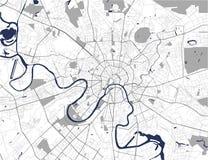 Mapa de la ciudad de Moscú, Rusia Foto de archivo
